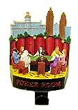 6'' Casino Gambling Poker Room Christmas Stocking Holder