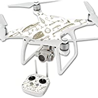 Skin For DJI Phantom 4 Quadcopter Drone – Retro Lures | MightySkins Protective, Durable, and Unique Vinyl Decal wrap cover | Easy To Apply, Remove, and Change Styles | Made in the USA