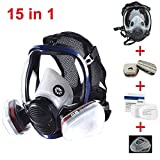 JZWDMD 15in1 Full Face Respirator Gas Mask Widely