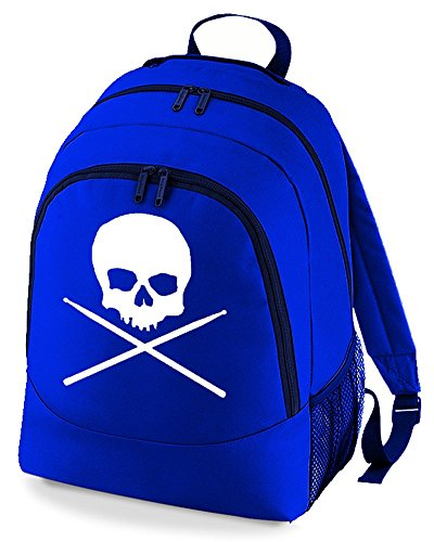 Sticks Skull Logo And Drumstick Backpack Drummer Royal Unisex Cross UCqO4CxTwg