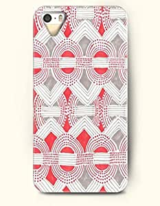 OOFIT Aztec Indian Chevron Zigzag Native American Pattern Hard Case for Apple iPhone 6 plus 5.5 ( iPhone 6 plus 5.5 Excluded ) Red And White Geometric Chevron Pattern