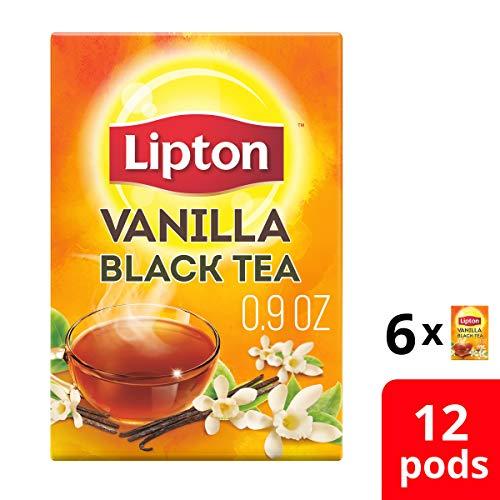 Lipton Black Tea K Cups, Vanilla 12 ct (Pack of 6)
