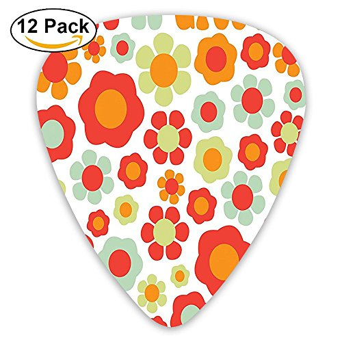 Newfood Ss Life Is Goofy Petals Of Retro Colors Stylized Art Past Dated Style Revival Art Guitar Picks 12/Pack Set -