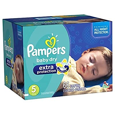 Pampers Baby Dry Extra Protection Diapers Size 5 Super Pack 66 Count (Packaging May Vary) by USA that we recomend personally.
