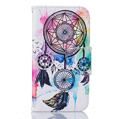 Trumpshop Smartphone Carcasa Funda Protección para Samsung Galaxy J1 ACE SM-J110 (4,3 Pulgada) [Dont Touch My Phone (oso del bebé)] PU Cuero Caja Protector Billetera Choque Absorción Atrapasueños