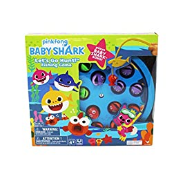Cardinal Industries Baby Shark Fishing Game with Song, Multicolor (6053381)