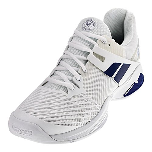 Babolat Men's Propulse All Court Wimbledon Tennis Shoes (White) (8.5 D(M) US)