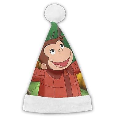 CARBZZ Curious George Wallpaper Christmas Hat Santa Or Nice Festive Holiday Velvet