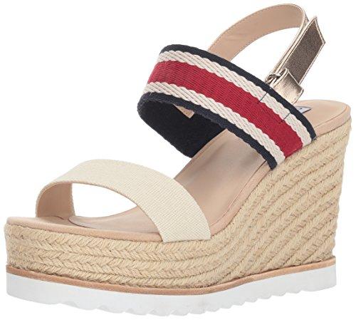 (Steve Madden Women's Verdes Wedge Sandal, White/Multi, 10 M US)