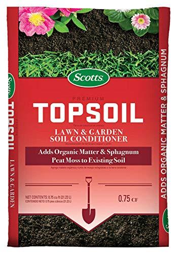 Scott's 71130758 0.75 Cu Ft Scotts Premium Topsoil (Best Topsoil For Lawn)