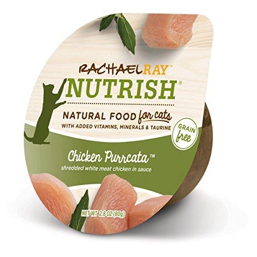 [Rachael Ray Nutrish Natural Wet Cat Food, Chicken Purrcata, Grain Free, 2.8 oz tub, Pack of 24] (24 Ct Tub)