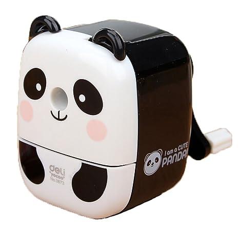 2196b87834 creative Gift lovely panda mano rotante temperamatite per ufficio Classroom