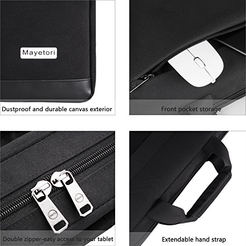 Laptop Bag, Mayetori 15.6 Inch Laptop Briefcase for Men Women College Student, Business Computer Messenger Shoulder Bag, Water Resistant Laptop Case for Notebook MacBook Tablet by Mayetori (Image #1)