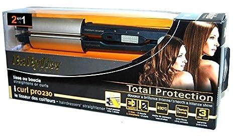 BaByliss I-Curl Pro230, Plancha alisador rizador de pelo: Amazon.es: Electrónica