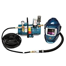 Allegro Industries 924801 1-Worker Deluxe Shield and Welding Helmet System, 50' Hose and ADF, Standard