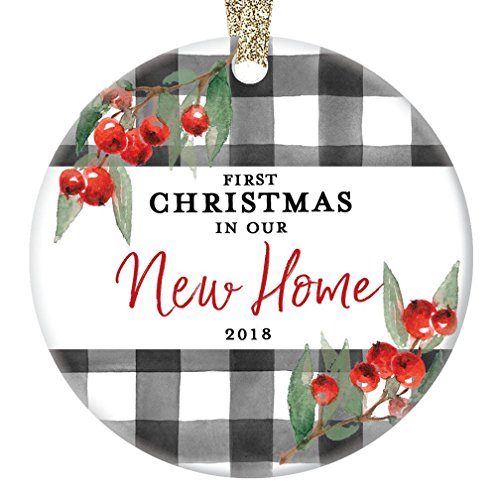 New Home Ornament Christmas 2018 1st First Time Homeowner Ceramic Collectible Recent House Buyer Present for Family Relative Friend 3