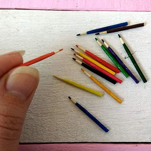 Miniature pencils set of 13, tiny dollhouse school, used for sale  Delivered anywhere in USA