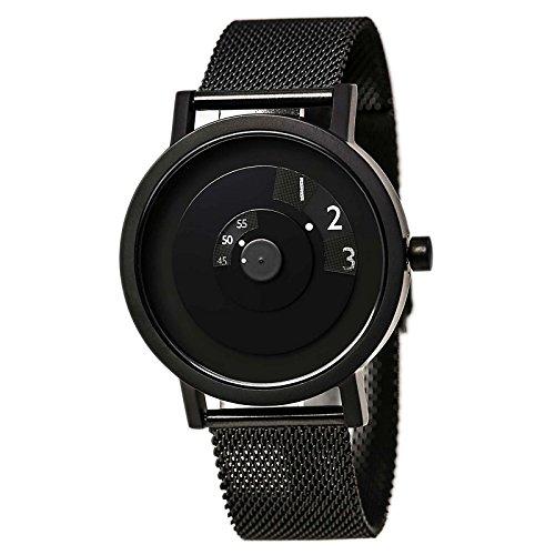 Dial Black Ip Bracelet - Projects 7203BM-40 Men's Reveal Classic Black Dial Black IP Steel Mesh Bracelet Watch