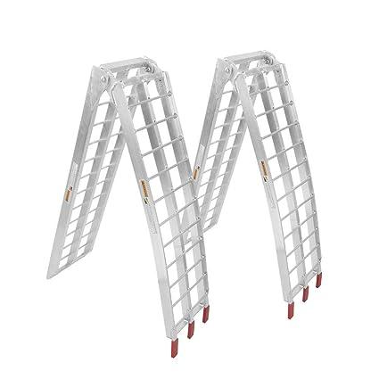 Aluminum Folding Ramps >> Amazon Com Toyeeka Loading Ramps 2 Pack Heavy Duty Aluminum