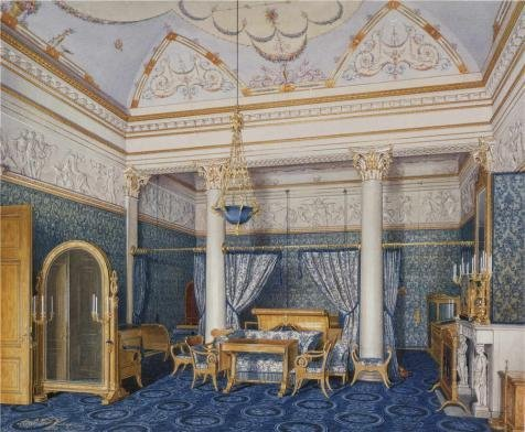 Oil Painting 'Hau Edward Petrovich,Interiors Of The Winter Palace,The Bedchamber Of Empress Alexandra Fyodo,1807-1887' Printing On High Quality Polyster Canvas , 16x19 Inch / 41x49 Cm ,the Best Laundry Room Artwork And Home Gallery Art And Gifts Is This High Resolution Art Decorative Prints On Canvas