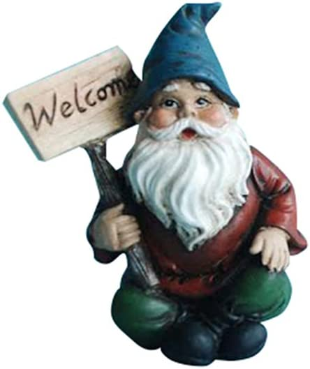 Hi-Line Gift Ltd Fairy Garden Gnome with Welcome Sign