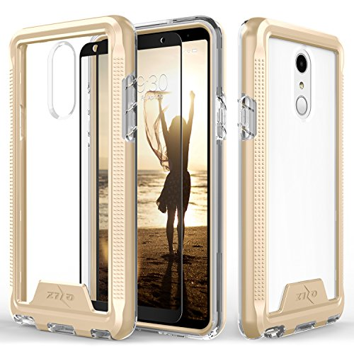 Zizo ION Series compatible with LG Stylo 4 Case Military Grade Drop Tested with Tempered Glass Screen Protector GOLD CLEAR by Zizo (Image #7)