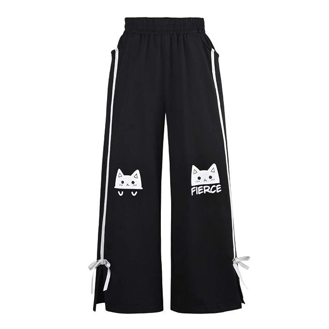 Himifashion - Pantalón Corto para Mujer, diseño de Gato: Amazon.es ...