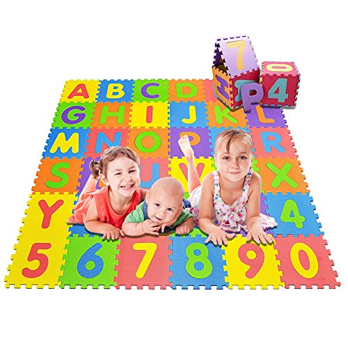 Jasonwell Tapete para Bebe Multiusos 36 Piezas Tapete Foamy Foami para Bebe Niños Impermeable Puzzle Play Mat de Juego...