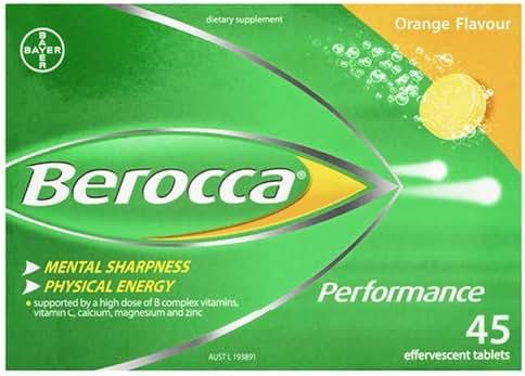 Berocca Orange Effervescent Tablets 45-Count