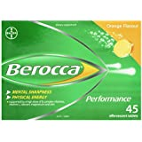 BEROCCA Performance Orange Flavour Effervescent 45 Tablets