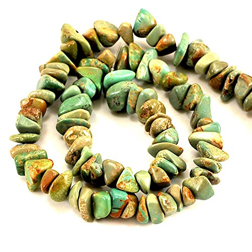 01 Green Hubei Turquoise Nugget 8-10mm for Necklace Gemstone Loose Beads 15