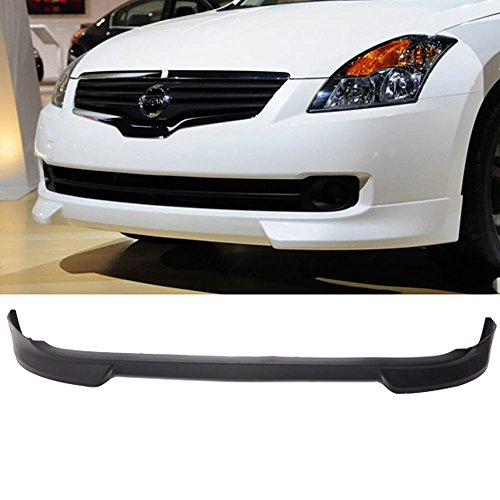 IKON MOTORSPORTS Front Bumper Lip Fits 2007-2009 Nissan Altima Nis Style Black PU