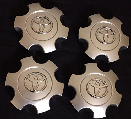 (2003-2006 Toyota Tundra 03-07 Sequoia Wheel Center Caps Hubcaps Set 69940 Silver)