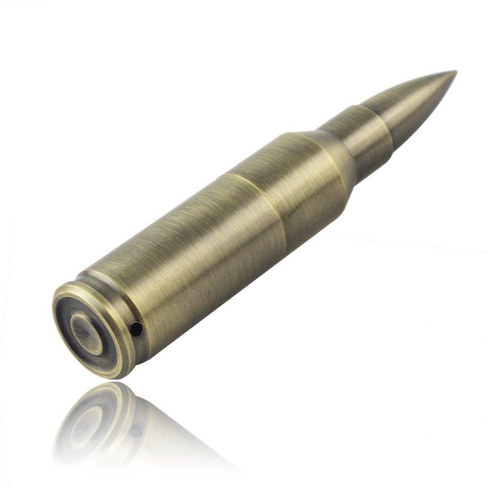 Shooo 32GB Metal Shining 3D Bullet memoria USB Tarjeta de memoria with Keychain: Amazon.es: Electrónica