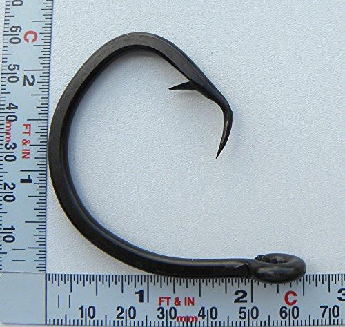 16//0 Big Game Black Forged Offset Circle Hooks 10pk Shark /& Swordfish
