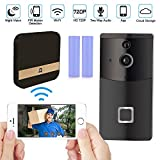 WiFi Video Doorbell Camera, Smart Doorbell 720P HD Security Camera with Cloud Storage