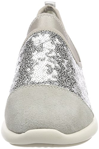 B lt Argent Grey Sneakers Ophira Geox Basses silver Femme 5Uq6fnvw