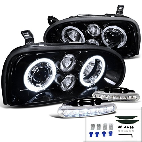 Glossy Black Projector Headlights Driving