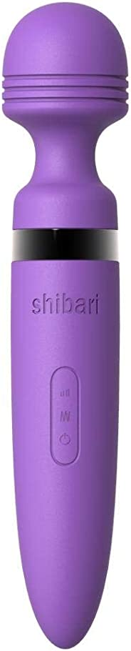 Shibari MEGA Deluxe, 28 Different Speeds and Pulses, Wireless, Waterproof, Large Sized Power Wand Massager (Purple)