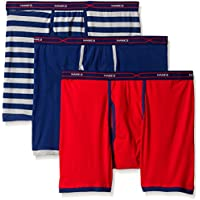 Hanes Men's Red Label 3-Pack FreshIQ X-Temp Active Cool Boxer Brief, Assorted
