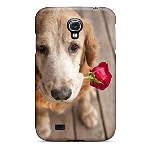 ScoDBke Premium Protective Hard Case For Galaxy S4- Nice Design - Dog With Rose