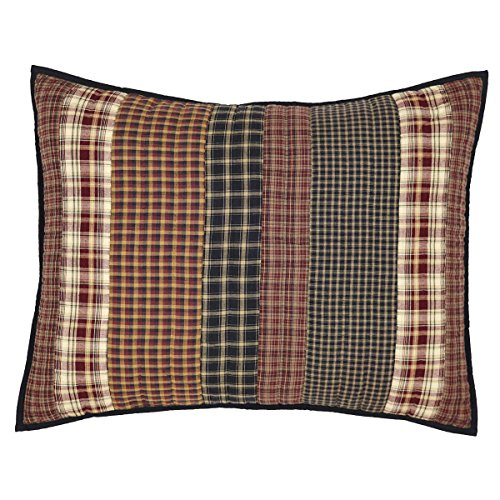 VHC Brands Rustic & Lodge Bedding - Beckham Red Sham, Standard ()