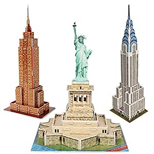 CubicFun 3D Architecture Model Kits Puzzle Gift Toys for Adults and Childrens,3-in-1 Package Set