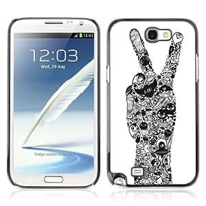 YOYOSHOP [Cool Peace Hand Tattoo Art] Samsung Galaxy Note 2 Case