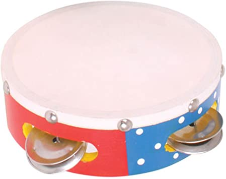 Bigjigs Toys Colourful Wooden Mini Tambourine Children/'s Musical Instruments