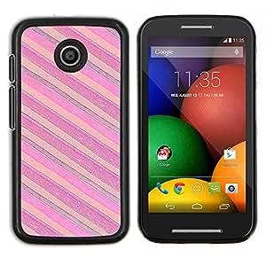 Stuss Case / Funda Carcasa protectora - Rosa Púrpura Horizontal - Motorola Moto E ( 1st Generation )