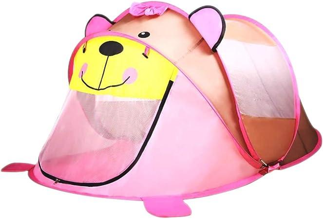 KINDOYO Niños Niñas Carpa Plegable - Infantil Dibujos Animados Pop up Tienda campaña Juguete Tienda, Rosa-Oso, 1 Bebé: Amazon.es: Juguetes y juegos
