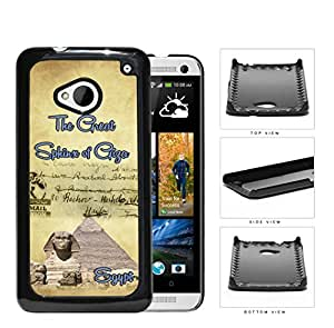 Egyptian Postcard Great Sphinx of Giza Hard Plastic Snap On Cell Phone Case HTC One M7