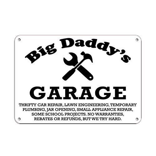 (narxekezhaeta Metal Decal Big Daddy's Garage Thrifty Car Repair Parking Sign Aluminum Metal Sign Tin Sign 12 X 18 Inch.)