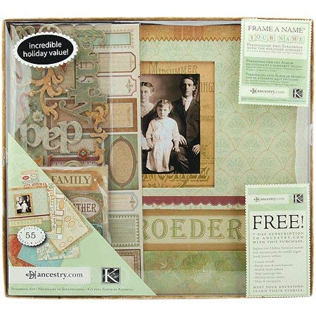 12 in. x 12 in. Post Bound Scrapbook Album with 20 top Loading Pages. Includes Papers, Stickers, Adhesive chipboard, Sticker Tags and Alphabet for Personalization. ()